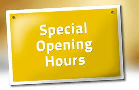 Special Opening Hours at Feis Office